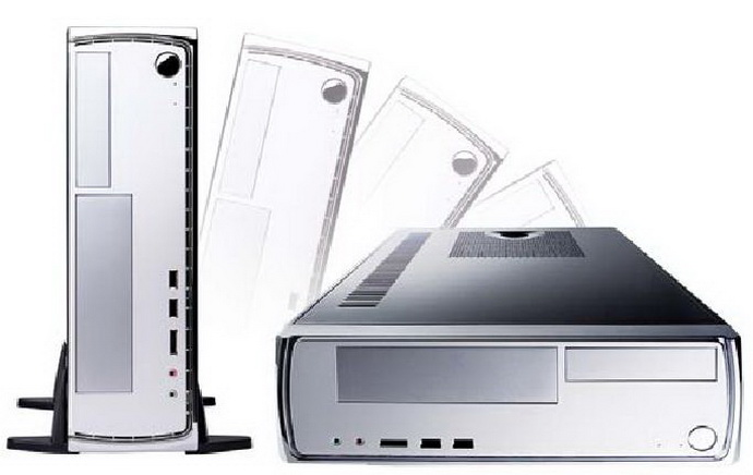 Antec Minuet 350 slim desktop/tower with 350w 80plus power suppl